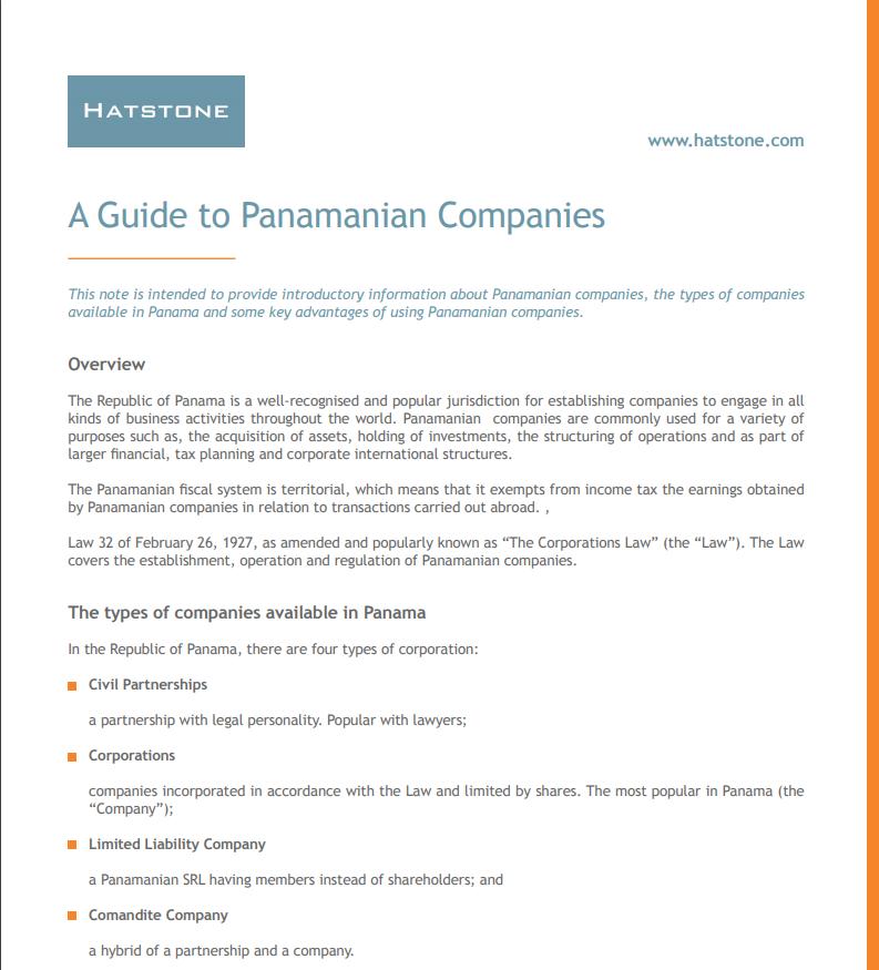 A Guide to Panama Companies