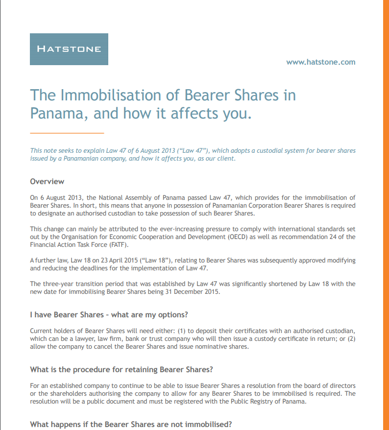 Bearer Shares