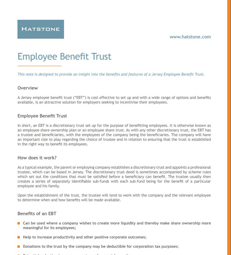 Employee Benefit Trust