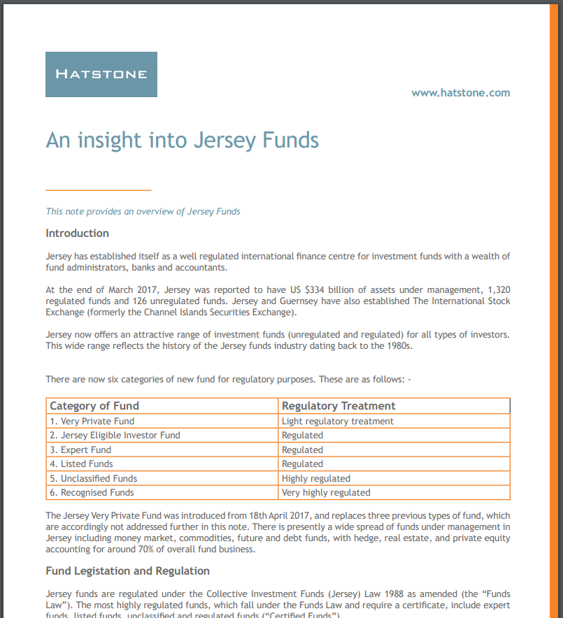 An Insight into Jersey Funds
