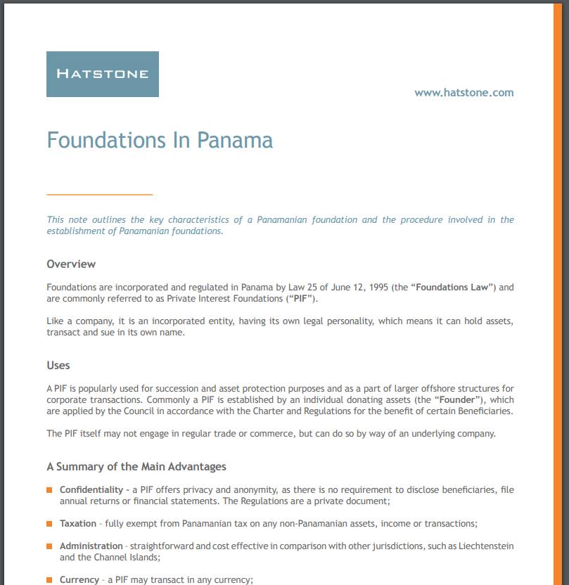 Foundations in Panama