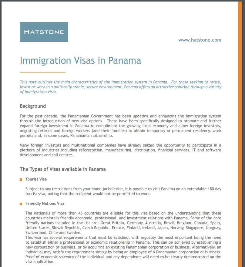 Immigration Visas in Panama