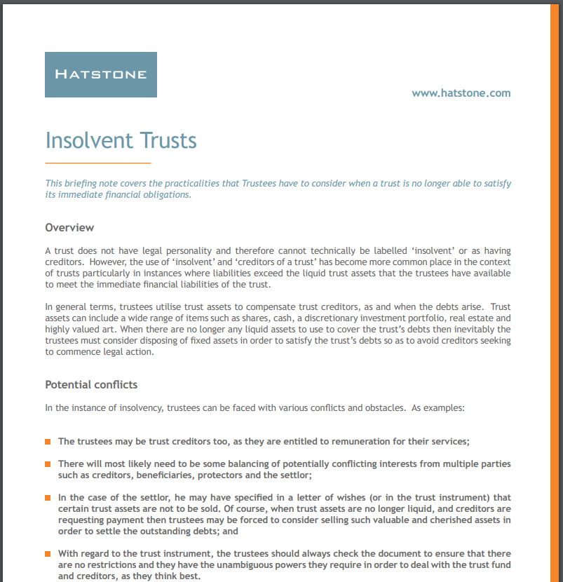 Insolvent Trusts