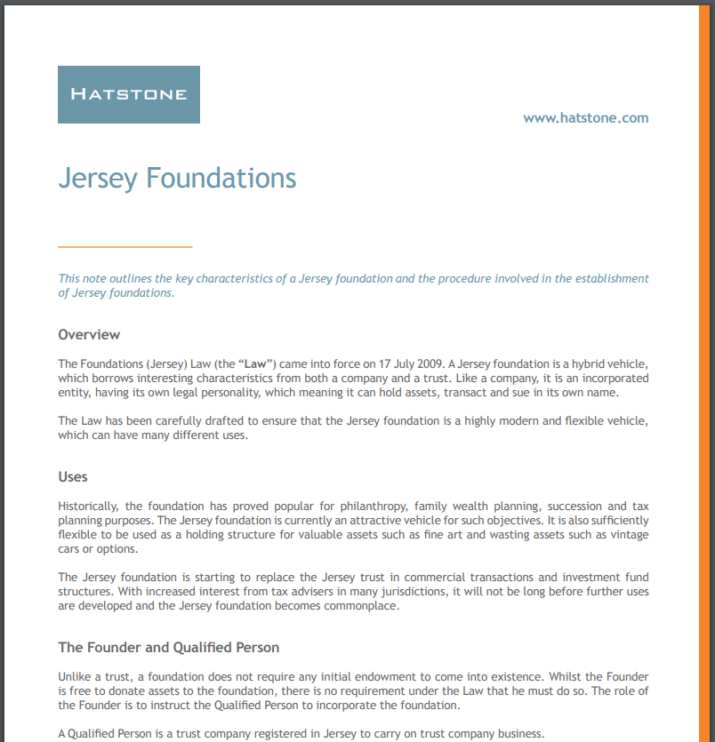 Jersey Foundations