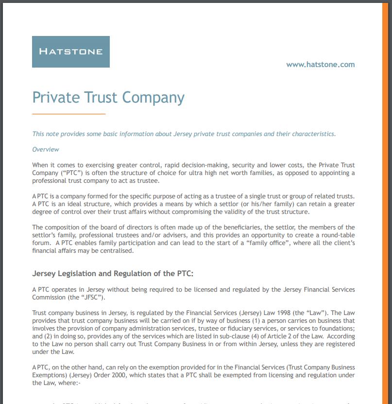 Private Trust Company