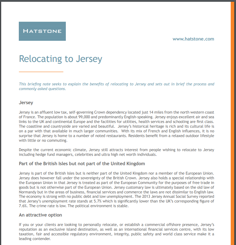 Relocating to Jersey